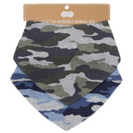 Mud Pie Reversible Camo Bandana Bib Set