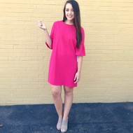 This Is Your Time Dress - FUCHSIA