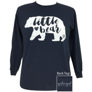 Girlie Girl Little Bear Navy Tee