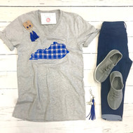 Kentucky Plaid State Tee