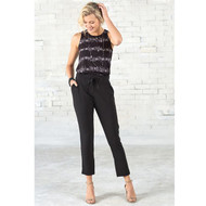 Mud Pie Burch Layering Tank - BLACK