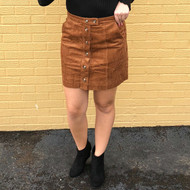 Asking For Attention Skirt - CHESTNUT