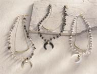 Mud Pie Crescent Layering Necklace