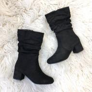 Linden Black Suede Boots