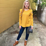 Rumor Has It Sweater - MUSTARD