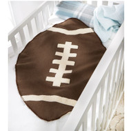 Mud Pie Football Sherpa Blanket