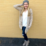 Bundle By The Fire Cardigan - TAN