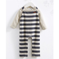 Mud Pie Striped Overall Set