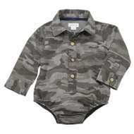 Mud Pie Camo Button Down Crawler
