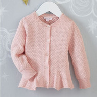 Mud Pie Pink Peplum Cardigan