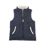 Mud Pie Navy Sherpa Vest