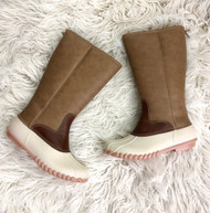 YOUTH Autumn Monogram Boots - TAUPE