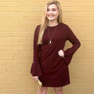 Make An Appearance Dress - WINE