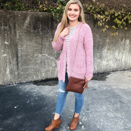 Cozy Days Ahead Cardigan - MAUVE