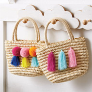 Mud Pie Tassel Straw Tote
