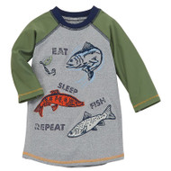 Mud Pie Eat Fish Sleep Rash Guard