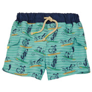 Mud Pie Dog Surfing Swim Trunks