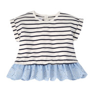 Mud Pie Eyelet Tee - STRIPE