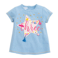Mud Pie Three Birthday Tee