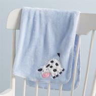 Mud Pie Cow Fleece Blanket
