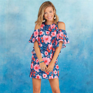 Mud Pie Birdie Ruffle Dress - FLORAL