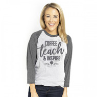 Simply Southern Coffee, Teach & Inspire Raglan Tee