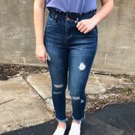 The Rachel Ruffle Waist Jeans
