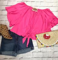 Sunny Daze Tie Top - PINK