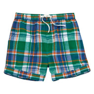 Mud Pie Plaid Cuffed Shorts - GREEN