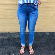 The Kaylie Frayed Medium Wash Jeans