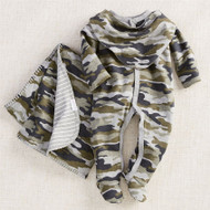 Mud Pie Camo Boxed Gift Set