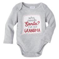 Mud Pie Grandma Christmas Crawler - GREY