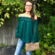 Endless Possibilities Blouse - EVERGREEN