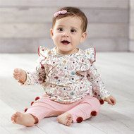 Mud Pie Pink Forest 2 Piece Set