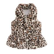 Mud Pie Faux Leopard Fur Vest - IVORY