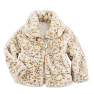 Mud Pie Faux Leopard Fur Jacket - TAN