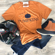 Rust Farm Fresh Pumpkins Tee