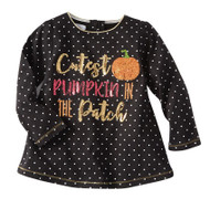 Mud Pie Cutest Pumpkin Halloween Tunic