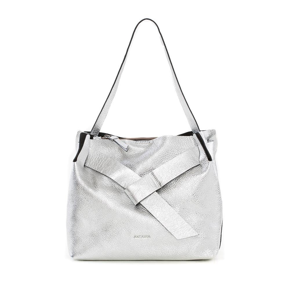 Arcadia Silver Shoulder Bag