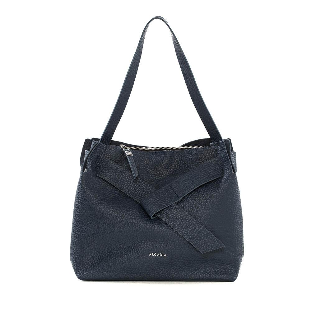 Arcadia Dark Blue Hobo Bag