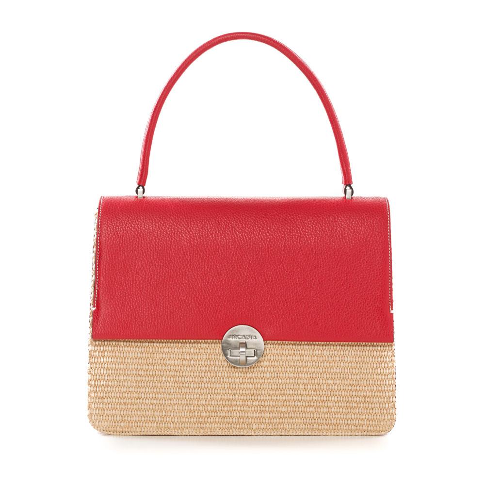 Arcadia Straw Bag Red