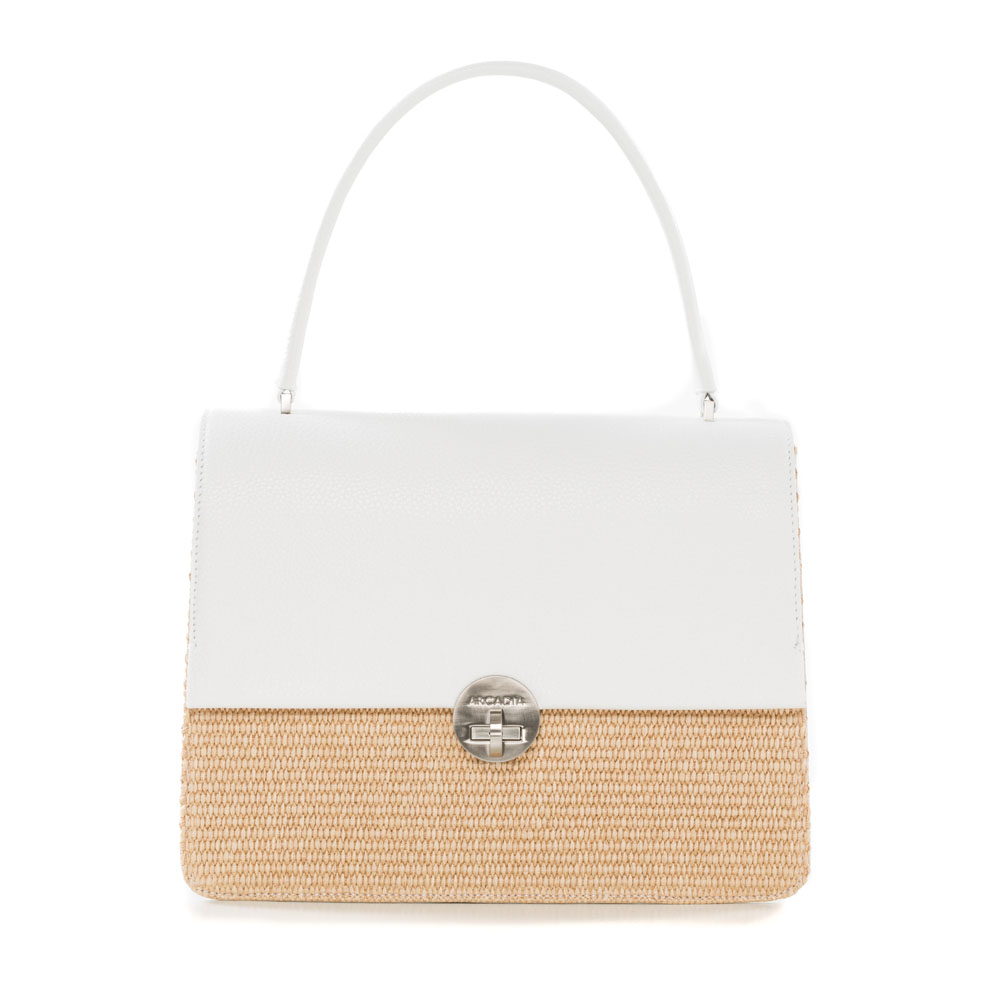 Arcadia Straw Bag White