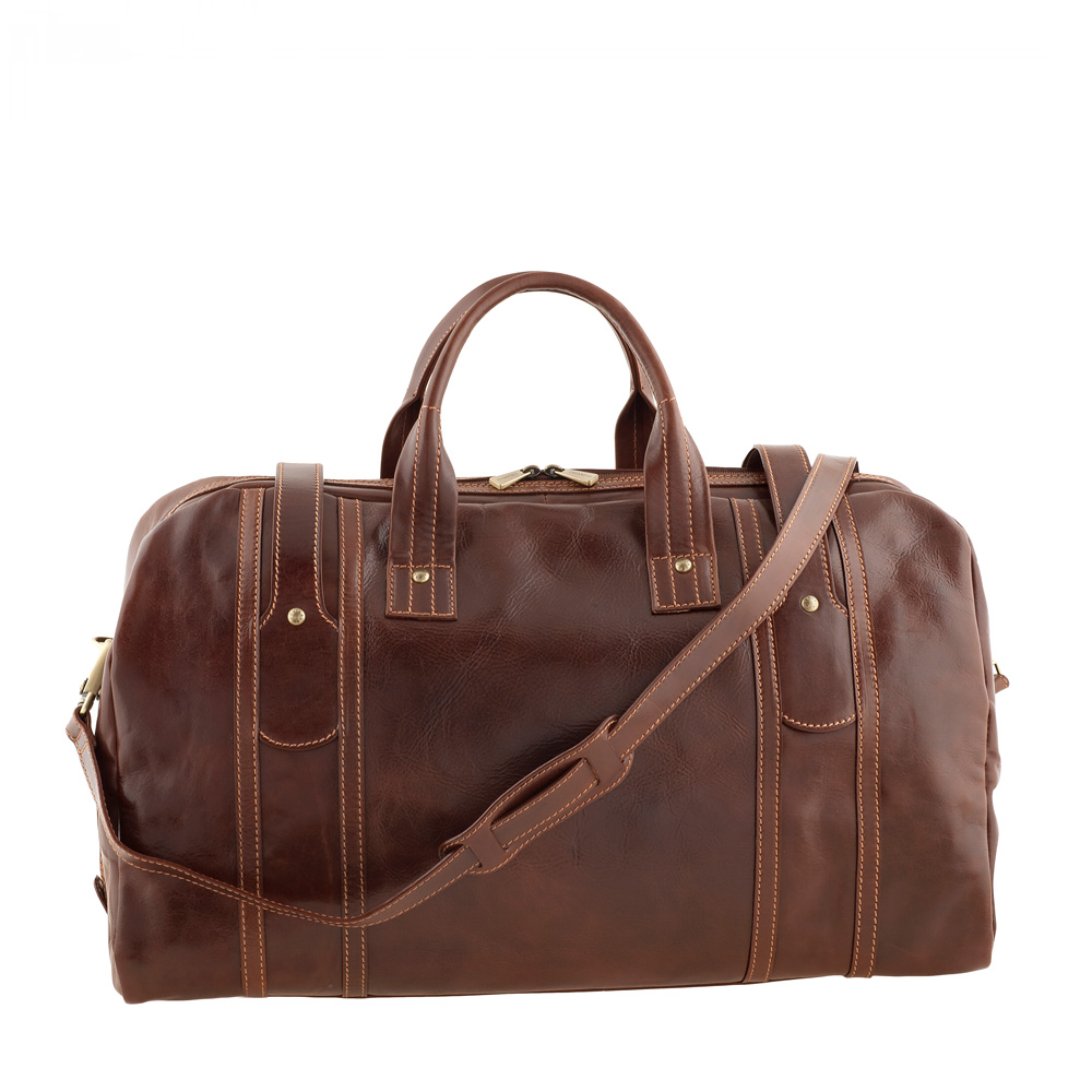 Chiarugi Brown Leather Holdall
