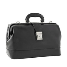 Chiarugi Italian Leather Classic Doctor's Bag - Black