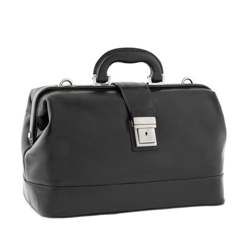 Chiarugi Italian Leather Classic Doctor's Bag - Black