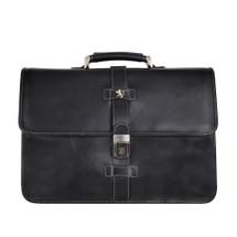 Pratesi Pratomagno Leather Briefcase - Black