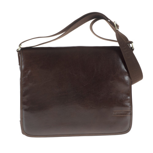Chiarugi Classic Italian Leather Messenger - Brown