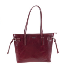 Chiarugi Italian Leather Tote Shopper Bag - Red
