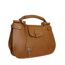 Boldrini Isla Italian Leather Grab Handbag - Tan