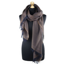 Maalbi Luxury Italian Virgin Wool Stole Scarf - Brown